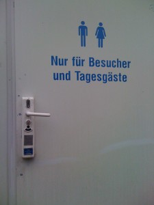 Pay toilet Germany