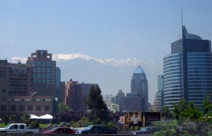 Andes in Santiago, Chile