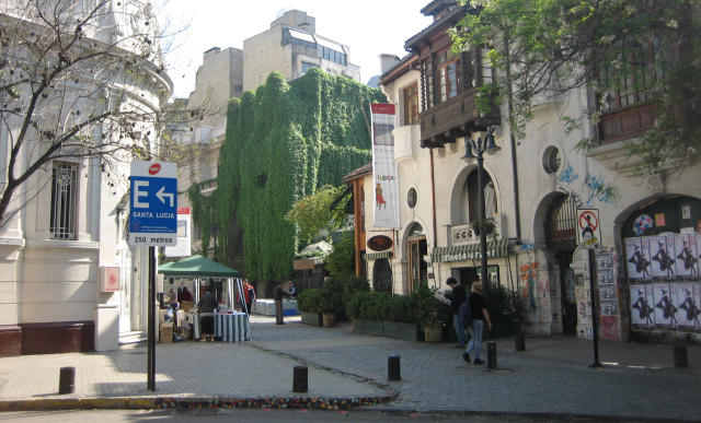 Santa Lucia is the historic district at the heart of Santiago