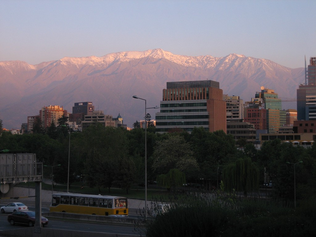 View from my hotel in Santiago